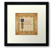 Here in the Garden (square format) Framed Print