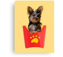 Dog Fries Canvas Print