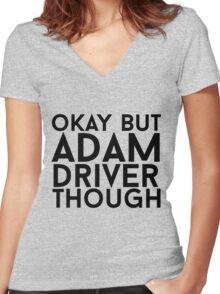 Adam Driver Women's Fitted V-Neck T-Shirt