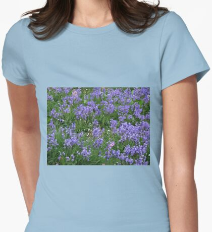 The Non Conformists - Bed of Bluebells Womens Fitted T-Shirt