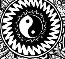 Black and White Zentangle Mandala Sticker