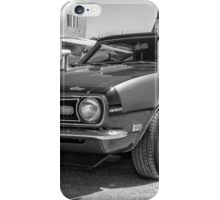 Classic Chevy Chevrolet Camaro Convertible B & W iPhone Case/Skin