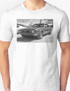 Classic Chevy Chevrolet Camaro Convertible B & W T-Shirt
