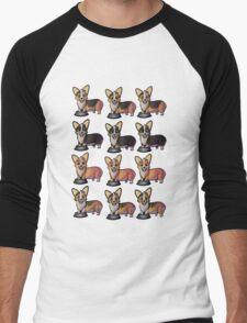 Corgimania! Men's Baseball ¾ T-Shirt