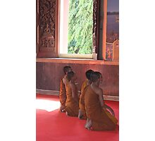 Novice Monks in Ayutthaya, Thailand Photographic Print