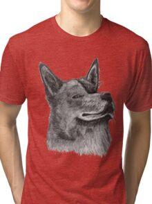 Blue Heeler Cattle Dog   Tri-blend T-Shirt