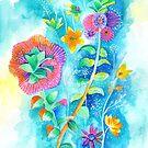 Floral IV by Carolina  Coto