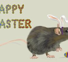 Easter Rat Card by annewinkler1
