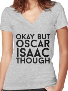 Oscar Isaac Women's Fitted V-Neck T-Shirt
