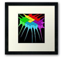 Tetris Melt 2 Framed Print