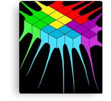 Tetris Melt 2 Canvas Print