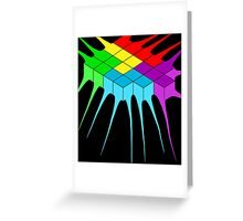 Tetris Melt 2 Greeting Card