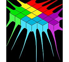 Tetris Melt 2 Photographic Print