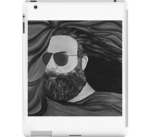 Jerry Garcia in Black and White iPad Case/Skin