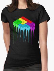 Tetris Melt 3 Womens Fitted T-Shirt