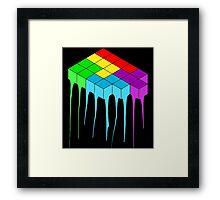 Tetris Melt 3 Framed Print