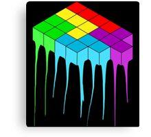Tetris Melt 3 Canvas Print