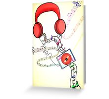 Headphone soothe  Greeting Card