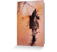 Stroll In The Rain Greeting Card