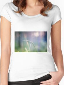 Ear with nature abstract background Women's Fitted Scoop T-Shirt