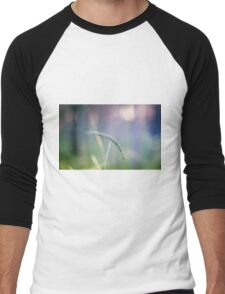 Ear with nature abstract background Men's Baseball ¾ T-Shirt