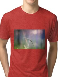 Ear with nature abstract background Tri-blend T-Shirt