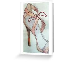 The Pink Shoe Greeting Card