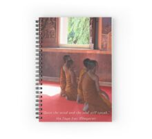 Monks in Ayutthaya-Meditation Quote Spiral Notebook