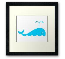Little Blue Whale Framed Print