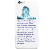 evil galadriel iPhone Case/Skin