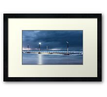 Sea surge over ocean baths Framed Print