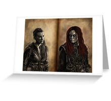 Niylah and Wanheda Greeting Card