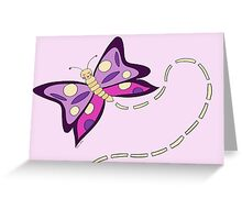 Butterfly Lilac Spreads Her Wings Greeting Card