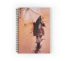 Stroll In The Rain Spiral Notebook
