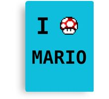 I Love Mario  Canvas Print