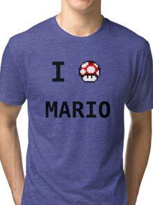 I Love Mario  Tri-blend T-Shirt
