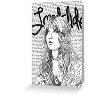 Stevie Nicks Landslide Lyrics Greeting Card