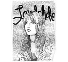 Stevie Nicks Landslide Lyrics Poster