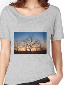 Winter Trees at Dusk Women's Relaxed Fit T-Shirt