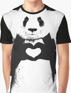 Love Panda Graphic T-Shirt