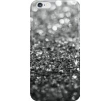 Abstract Silver Glitter iPhone Case/Skin