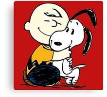 Snoopy and Charlie Soulmate Canvas Print