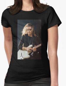 Lynn Gunn + guitar 6 Womens Fitted T-Shirt