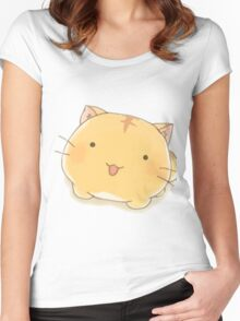 Poyopoyo cute cat Women's Fitted Scoop T-Shirt
