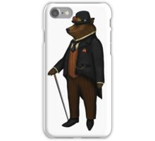 Bear in bowler hat without background, no frame iPhone Case/Skin