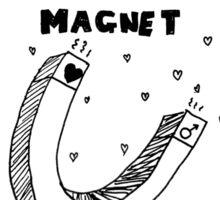 Boy Magnet - White Sticker