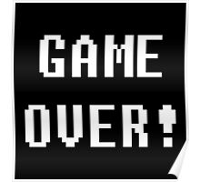 Game Over! Undertale Text Poster