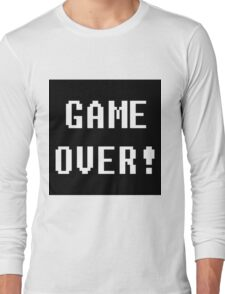Game Over! Undertale Text Long Sleeve T-Shirt