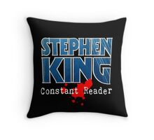 Stephen King Constant Reader Throw Pillow