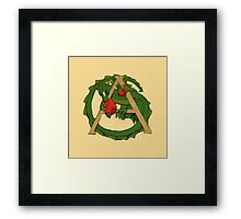 "Oscar and the Roses ""A"" (Illustrated Alphabet) Framed Print"